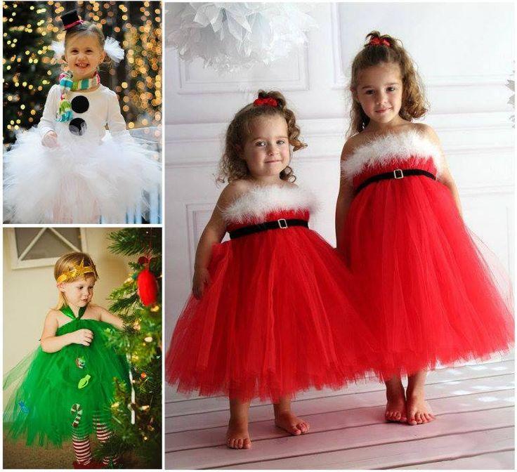 DIY Christmas Tutu Dress --> http://wonderfuldiy.com/wonderful-diy-christmas-tutu-dress-for-your-little-princess/
