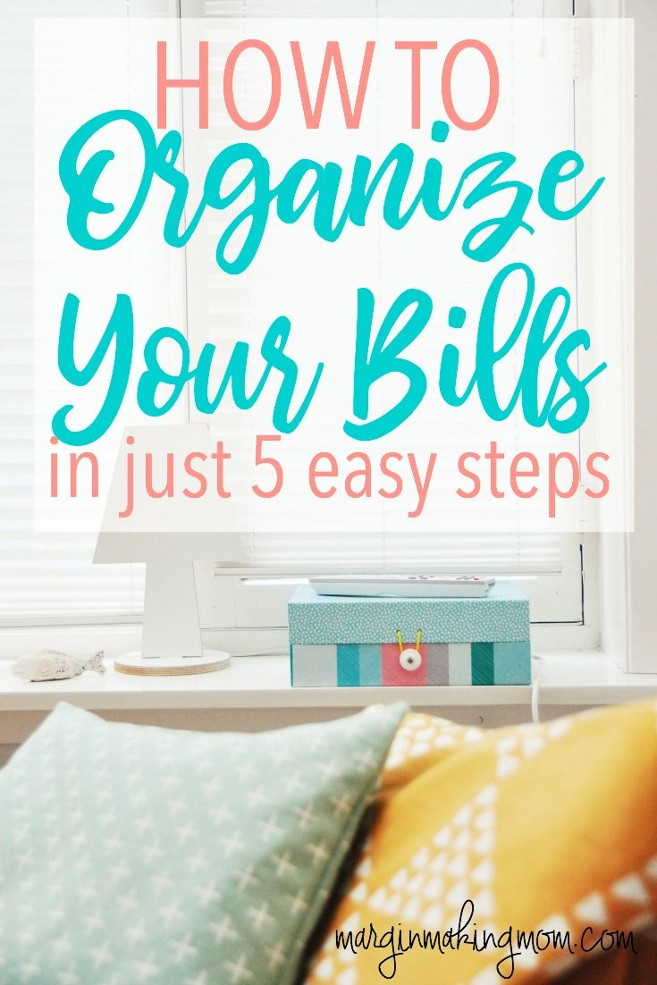 An important step to improving your finances is to organize your bills! When you keep your bills organized, you can save money in fees and penalties, stick to your budget better, and reduce stress! How to Organize Bills | Money Organization | How to Budget