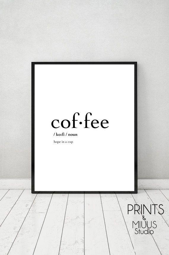 Coffee Definition Print Poster Printable by PrintsMiuusStudio