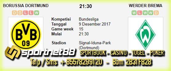 Prediksi Skor Bola Borussia Dortmund vs Werder Bremen 9 Des 2017 Liga Jerman di Signal-Iduna-Park (Dortmund) pada hari Sabtu jam 21:30 dan akan di siarkan langsung di Fox Sport 2