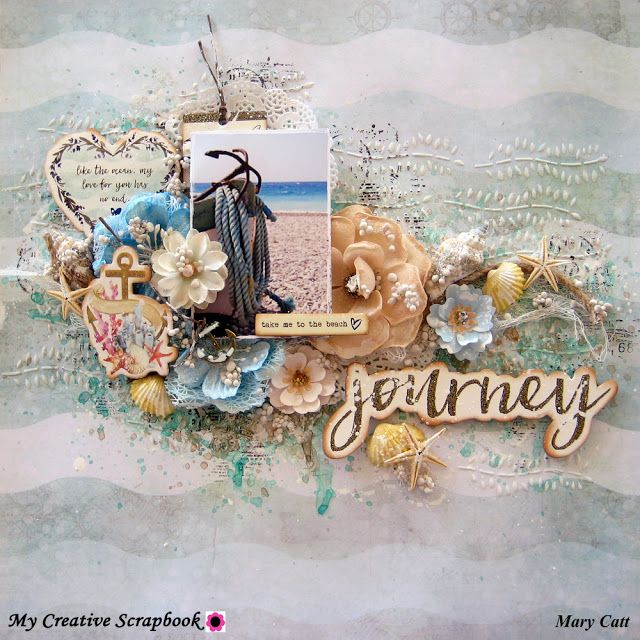 Mary's Crafty Moments: ''Journey'' - A GD Layout for My Creative Scrapbook with VIDEO TUTORIAL