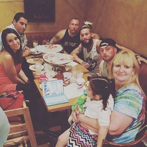 Enzo Amore and his family (Mom, Rueby, Brett, Enzo, Teddy, Dad & Christine)