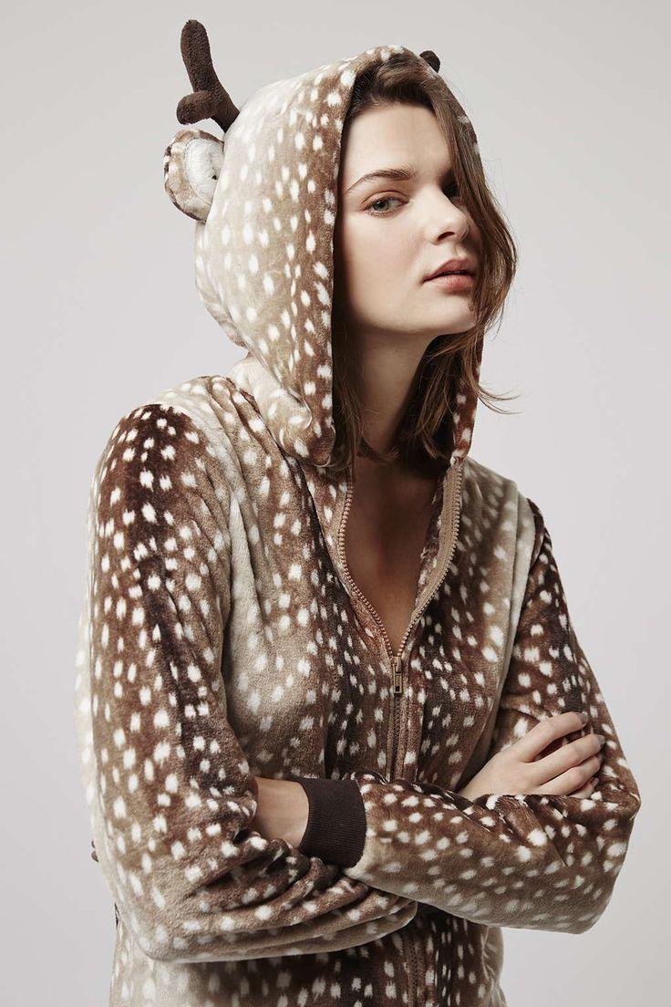 Reindeer Onesie - Nightwear - Clothing - Topshop