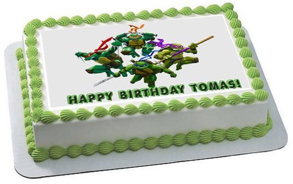 Ninja Turtles Edible Birthday Cake Topper Or Cupcake Topper Decor In 2021 Birthday Cake Toppers Cupcake Toppers Edible Printing