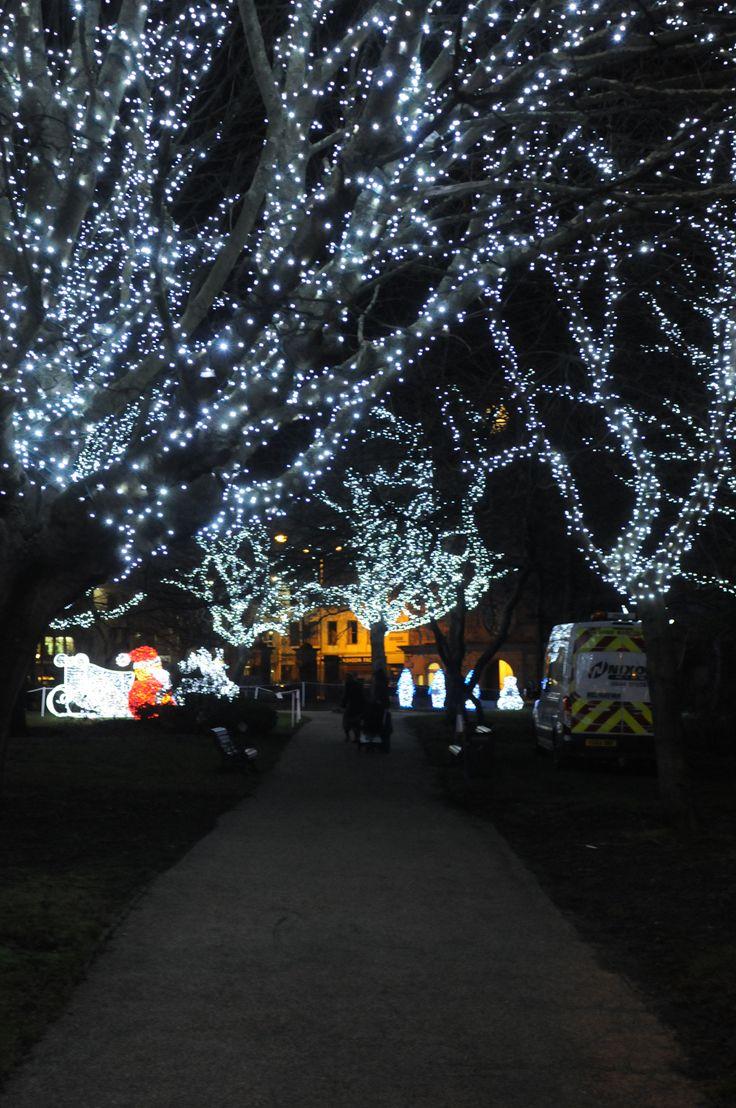 St Hilda's Church Gardens illuminated light display. #Christmas #southtyneside #festive #illuminated