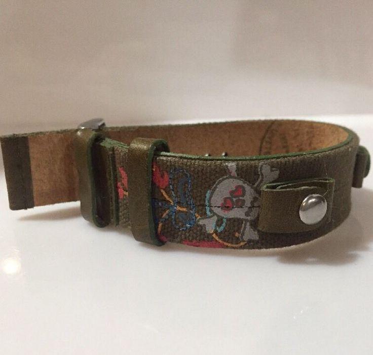 Fossil Watch Strap Genuine Leather JR-9459 Skulls Design  | eBay