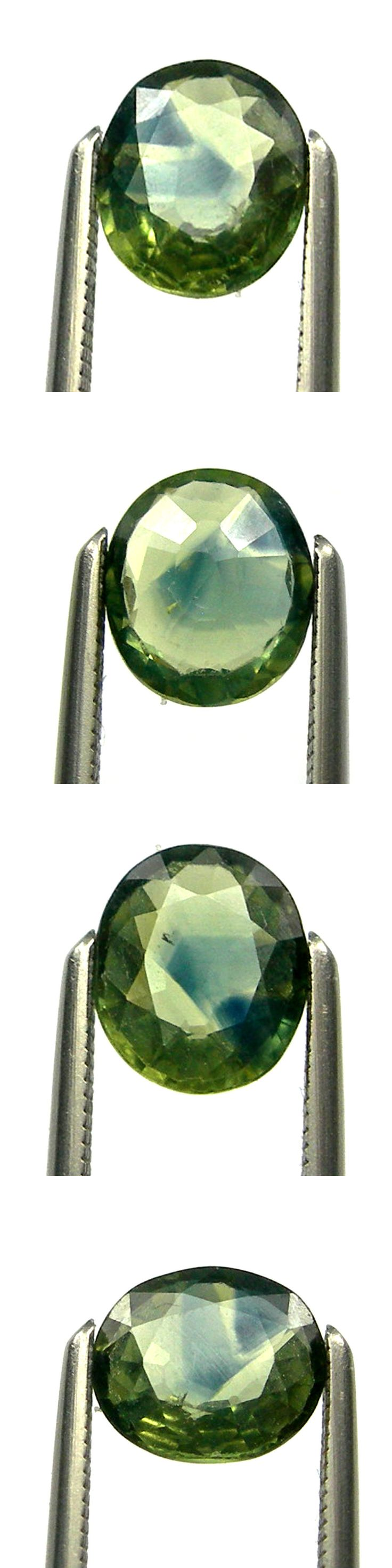 Other Sapphires 164408: 0.91 Carat 6.5X5.5Mm Oval Bi-Color Australian Green Parti Sapphire Gems, Ops30 -> BUY IT NOW ONLY: $149.15 on eBay!