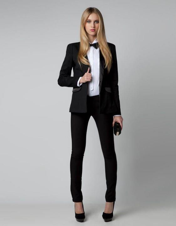 I love a good women's tuxedo