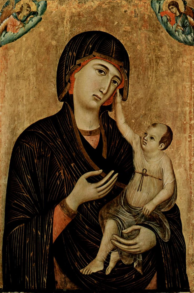 Madonna of Crevole - Duccio - transitioning from Byzantine to Renaissance Art.
