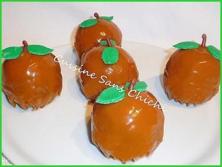 Dessert d automne aux pommes et glaçage caramel .Ce dessert un peu long à réaliser, étonnera tous vos convives ! Surprise garantie.