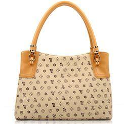 ファッション コンサイス リアルレザー かわいいフラワーデザイン レディースハンドルバッグ