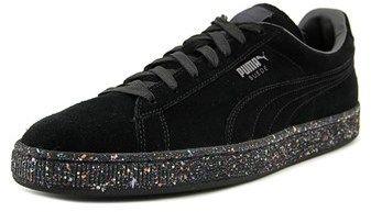 Puma Classic Splatter Round Toe Suede Sneakers.