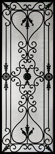Wrought Iron Door Inserts - Edenstone 22x64 Chinchilla