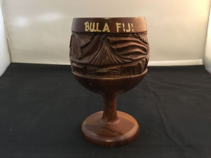 BULA FIJI Hand Carved Wooden Cup - Home Decor  in Home & Garden, Home Décor, Other Home Décor | eBay!