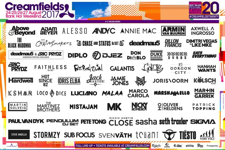 Creamfields Announces Massive 2017 Lineup Ft. deadmau5, Eric Prydz, Dillon Francis, Jauz & More It was revealed back in December that deadmau5 and Eric Prydz would be performing b2b at Creamfields for what will likely be an unforgettable performance. The UK-based festival has finally announced its 2017 lineup and its stacked. In addition to deadmau5 and Eric Prydz on the bill, headliners include Diplo, Jauz, The Chainsmokers Axwell Ingrosso, Above & Beyond, Duke Dumont, Tiest..