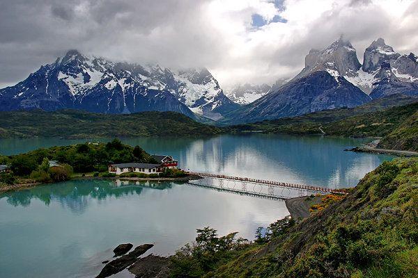 lake pehoe, chile | Lake Pehoe wurde in Chile, Torres del Paine aufgenommen und hat ...