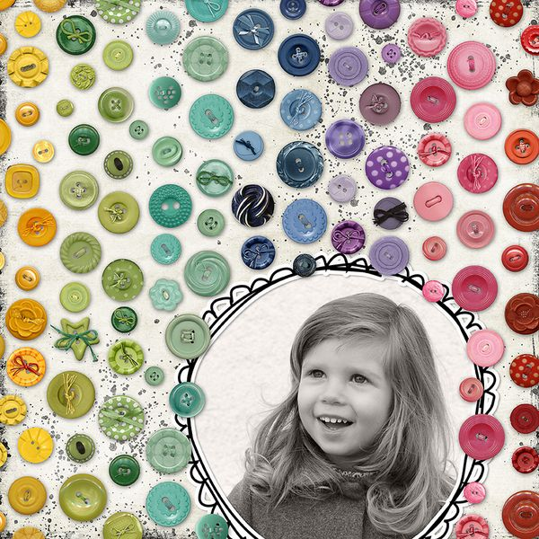 Gorgeous colours & really great way of using buttons!