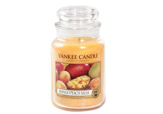 Yankee Candle, créée il y a 45 ans aux Etats-Unis, est La référence des bougies parfumées. Yankee Jarre L -Mango peach