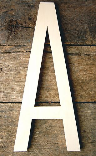I wanna hang this and my husband's initial in my future house! So cute!