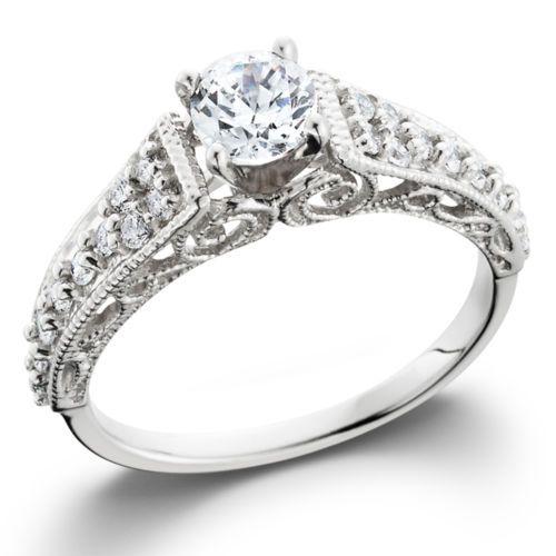 60CT-Vintage-Filigree-Diamond-Engagement-Ring-14K-White-Gold-Antique-Filigree
