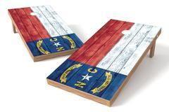 North Carolina State Flag Single Cornhole Board-Vintage