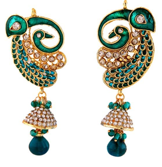 Jumka Style Peacock Earrings ❤️