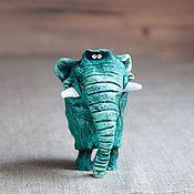 Купить Слоник - цветной, слон, слоник, смешной подарок, ручная работа, ручная роспись, подарок