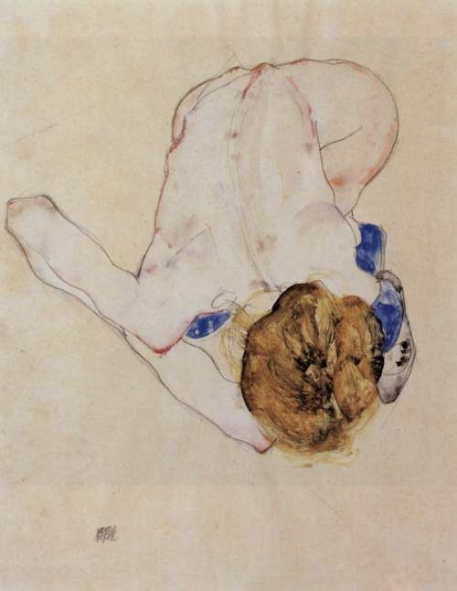 Egon Schiele, Bent Nude: Art Blog, Drawings Art, Posters Prints, Art Posters, Egon Schiele, Something Blue, Art Pictures, Bedrooms Wall, Egon Schiele