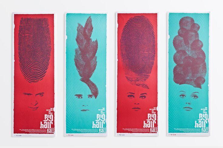 """Die Poster für den """"Big Hair Ball"""" erhielten äußerst kreative Frisuren Näch ...  - Design (Art, Kunst) - #Art #äußerst #Ballquot #den #design"""