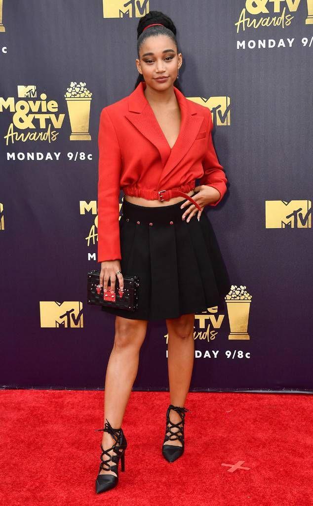 dcd5420fcb Amandla Stenberg from MTV Movie   TV Awards 2018  Red Carpet Fashion ...