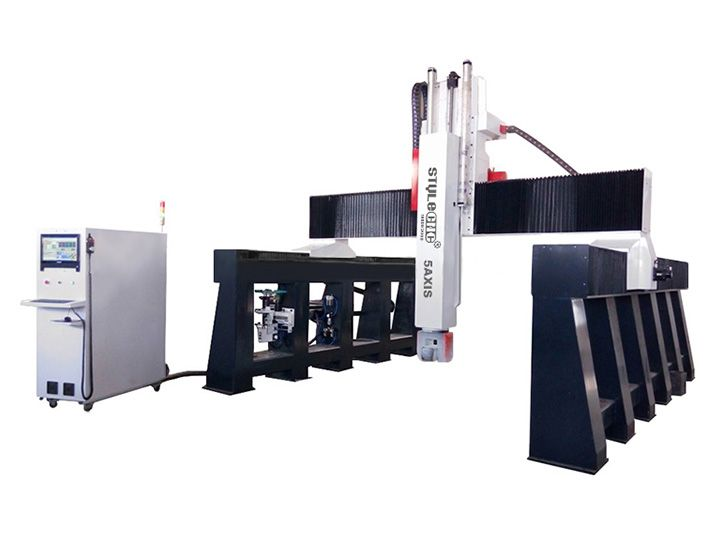 5 axis CNC Machine is used for CNC mold making, 3D surface carving, CNC woodworking, etc. Now the 5 axis CNC machine for sale with competitive price.