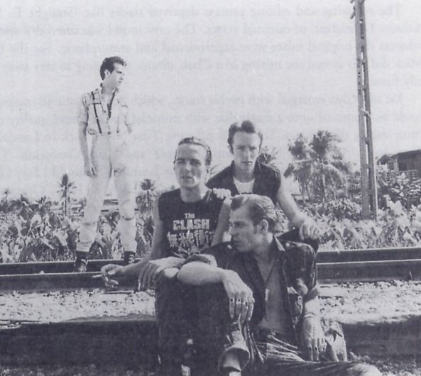 PHOTO: The Clash shooting the cover of Combat Rock.