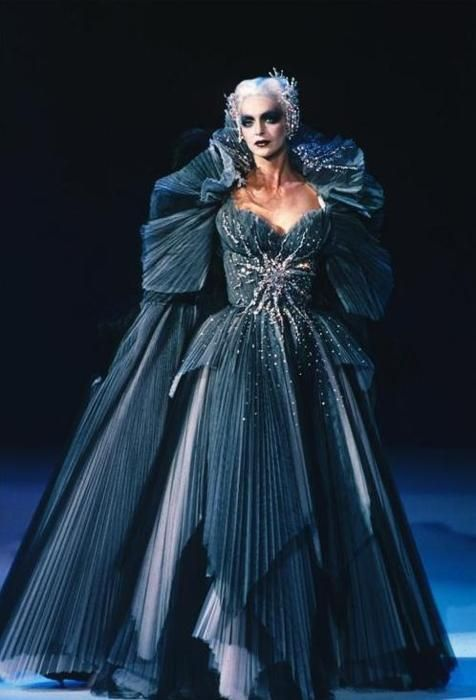 Dress created by Thierry Mugler. It reminds me of the Queen of the night from The magic flute.