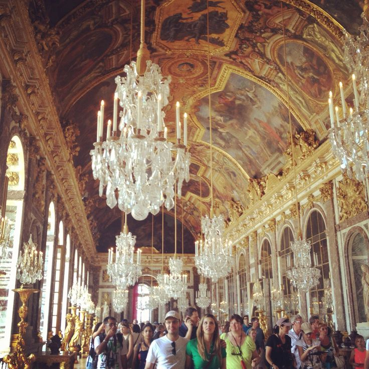 Mesmerized by the wealth and extravagance of a world a couple hundred years ago at the Hall of Mirrors, Chateau de Versailles, France.