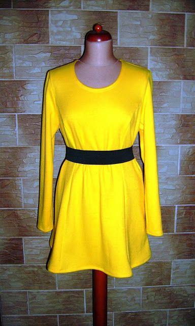 Lady at home DIY Blog: Żółta sukienka