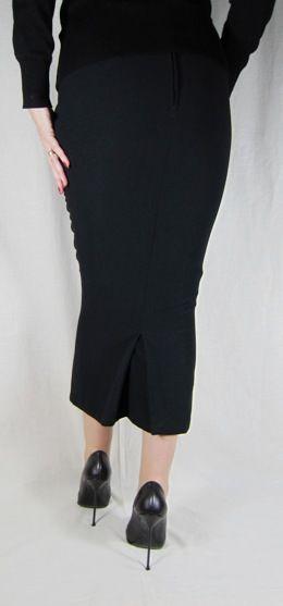 hobble skirt calf length with kickpleat crepe maha 60s
