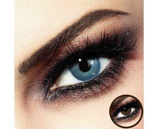 PRIME - Farblinsen / Monatslinsen - Bijou Blue  LuxDelux Linsen besonders gut für braune Augen!