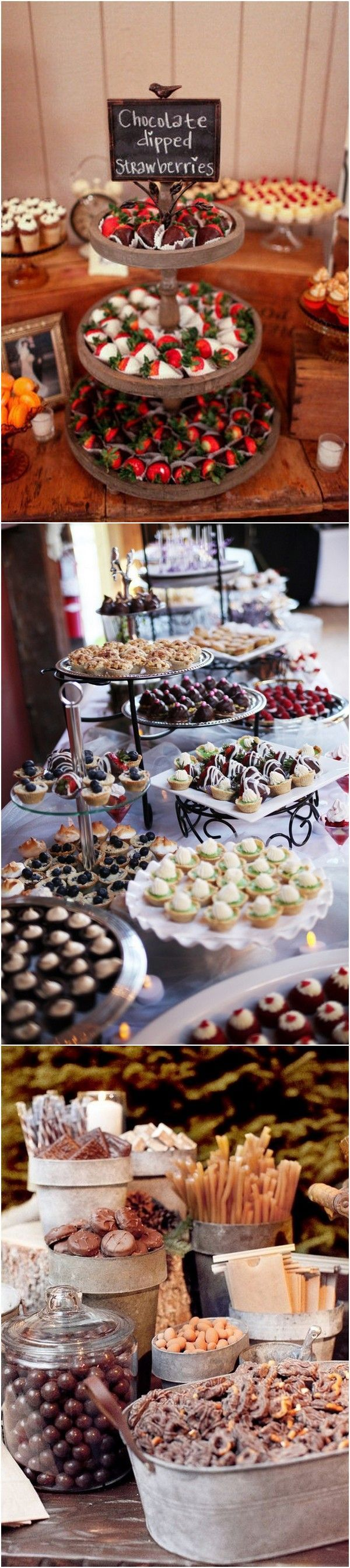 chic vintage wedding dessert decoration ideas