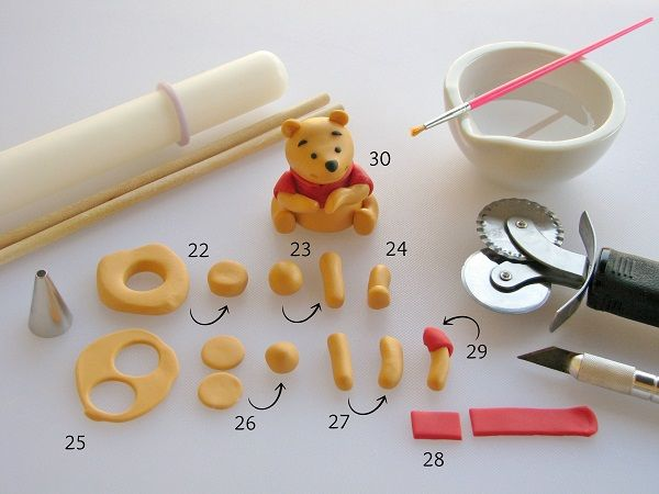 A silly old fondant Winnie the Pooh tutorial - Adorable!