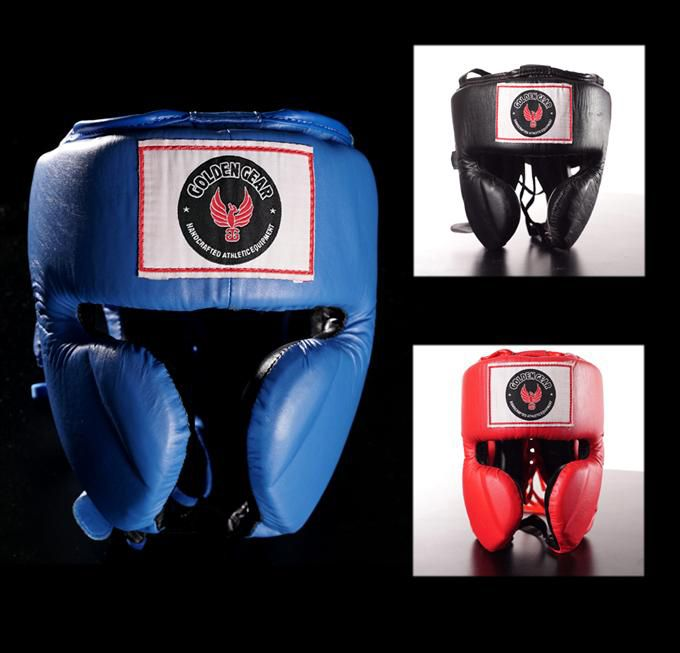 Boxing Headgear by Golden Gear - https://www.martialartsupply.com/product/boxing-headgear-golden-gear/