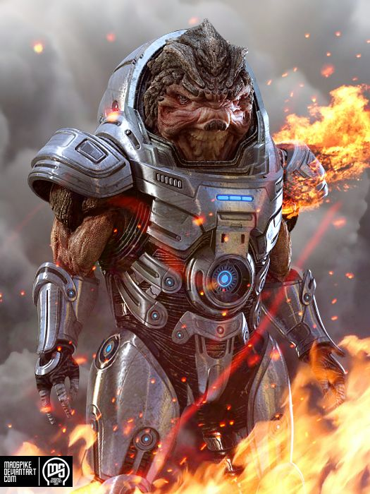 Grunt  by ~MadSpike  Mass Effect, developed by Bioware and published by EA Games  Official website: www.masseffect.com