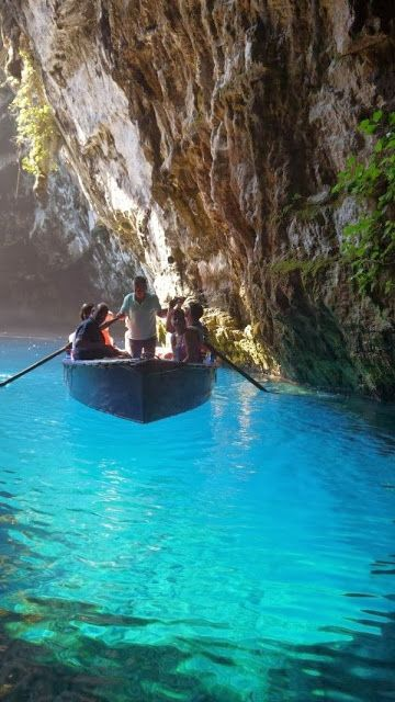 Melissani Cave, Kefalonia, Greece | See More: