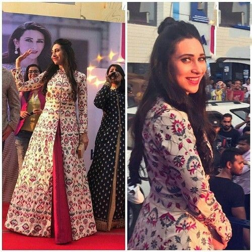 Rs.2948, Buy Online Kuldevi Fashion Karisma Kapoor Poly Silk Multicolour Printed Semi Stitched Bollywood Designer Suit - Kkm01 - Kuldevi Fashion - Reviews - Indiarush