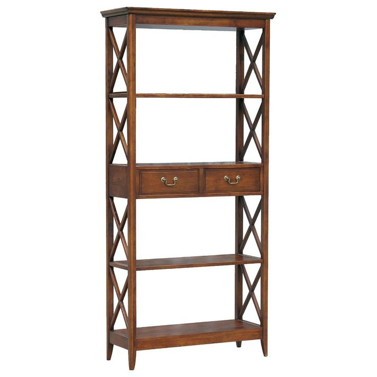 Wayborn Eiffel Solid Wood Bookshelf with Drawer - Inspired by the open framework of Paris' Eiffel Tower, the Wayborn Eiffel Bookshelf with Drawer is, much like its predecessor, both quaint and grand, ...