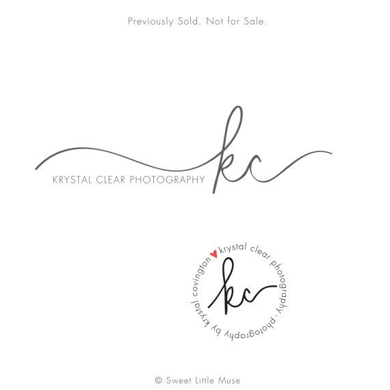Custom hand written initials logo - custom logo design - OOAK logo $125