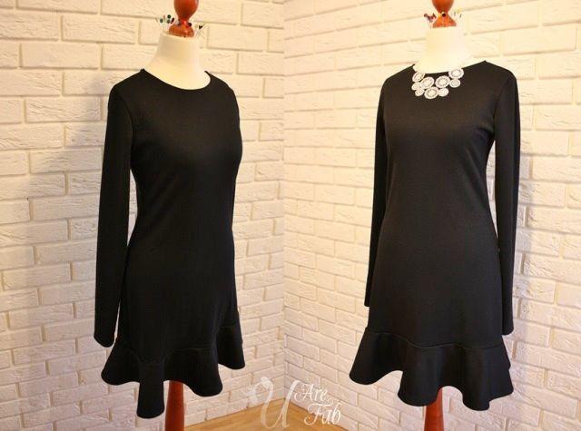 Handmade little black dress (jersey punto)
