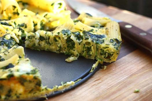 Pasta Cake- parmesan, mozzarella, ricotta, and spinach with penne or ...