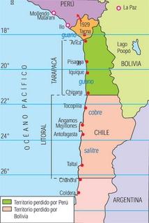 El 20 de Octubre de 1883, Chile y Perú firmaron el Tratado de Ancón, reestableciendo la paz entre los dos países luego de la Guerra del Pacífico.  Según las condiciones del tratado, Chile adquiere el dominio sobre el Departamento de Tarapacá y la ocupación de las provincias de Tacna y Arica por diez años, después del cual, se organizaría un plebiscito para determinar la nacionalidad de éstas.