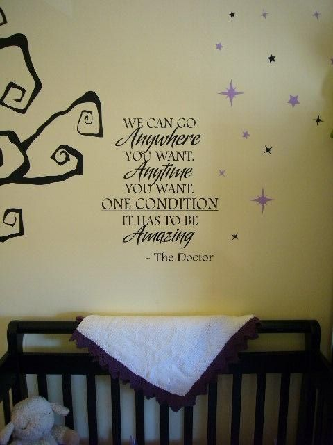 I want this somewhere in my house if Blake won't let me have a Doctor nursery