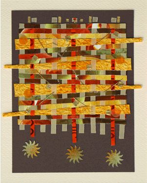 Ellen Jackson is an artist who takes a variety of papers & other textured materials to create intricate woven tapestries